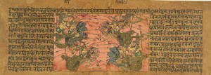Battle_Scene_Between_Kripa_and_Shikhandi_from_a_Mahabharata