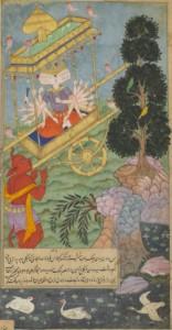 Ravana_seizes_the_chariot_Puspaka_from_Kuvera