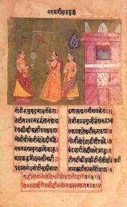 Queen_Nagamati_talks_to_her_parrot,_Padmavat,_c1750